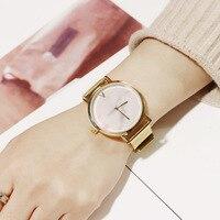 Горячая Мода кварцевые часы для Для женщин Золотой Сталь сетка браслет Для женщин S Часы Творческий Мрамор узор циферблат женский часы новы
