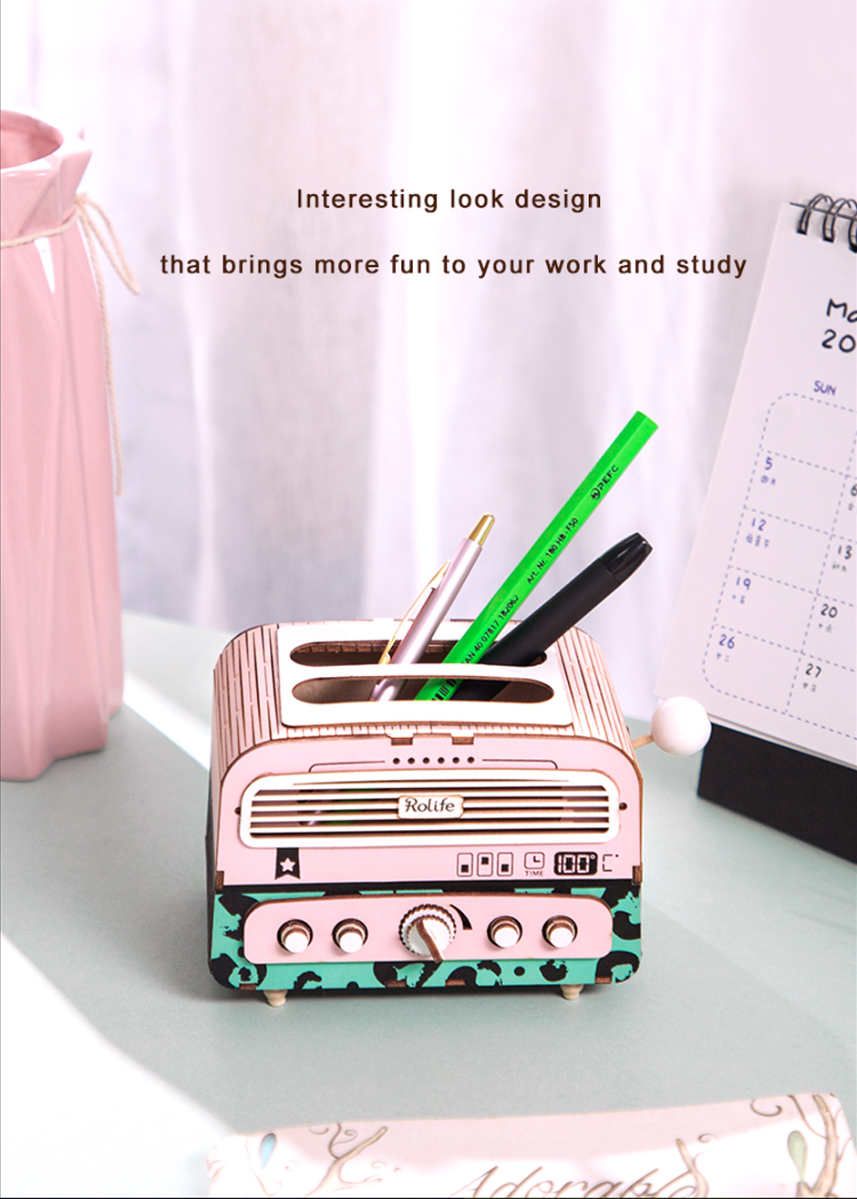 Robotime TG14 Toaster DIY Penholder