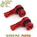 2 pcs universal motocicleta rodas de alumínio pneu válvula do pneu hastes caps 90 graus para honda cbr400 cb400 cb600 honda cbr600rr cbr1000rr