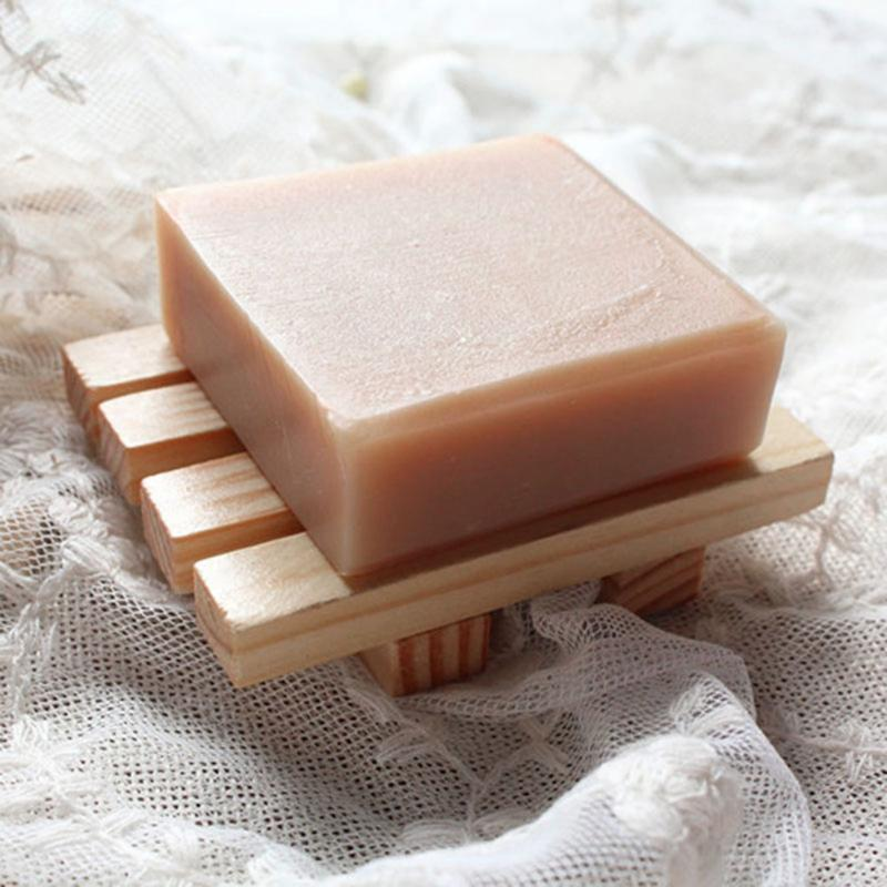 Bathroom Dish Wooden Dry Soap Box Bathroom Leaking Soap Storage Container for Bath Shower Plate Natural Pine Wooden Soap hot q rapha korean pine needle soap gift set 3 pack
