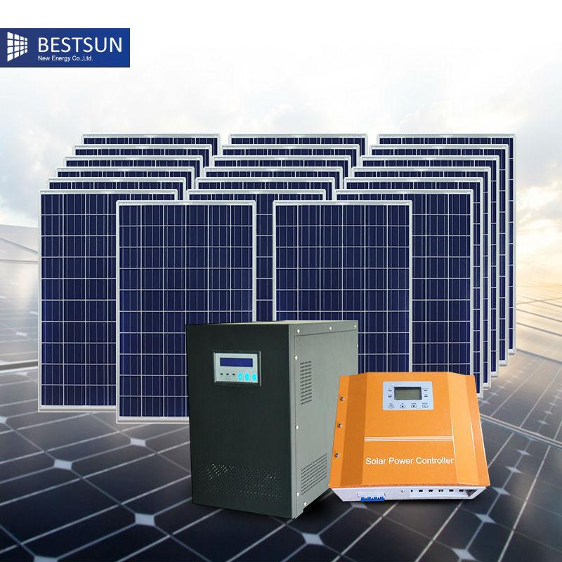 Bfs 5000w H Contains 20pcs Solar Panel 1 Set 5kva Hybrid