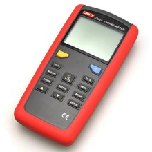 UNI-T UT322  USB LCD Digital Thermometer Multimeter K J T E Tester Meter T1 T2 Input/USB Data Transfer