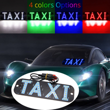 LED TAXI Sign Light 4 colors optional Car Windscreen Rideshare Windshield Cab Indicator Inside Signal Cigarette Lighter