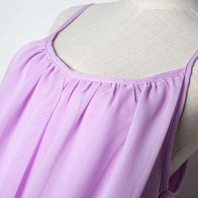 Women beach dress fluorescence female summer dress chiffon voile women dress 2019 summer style women clothing plus size 4
