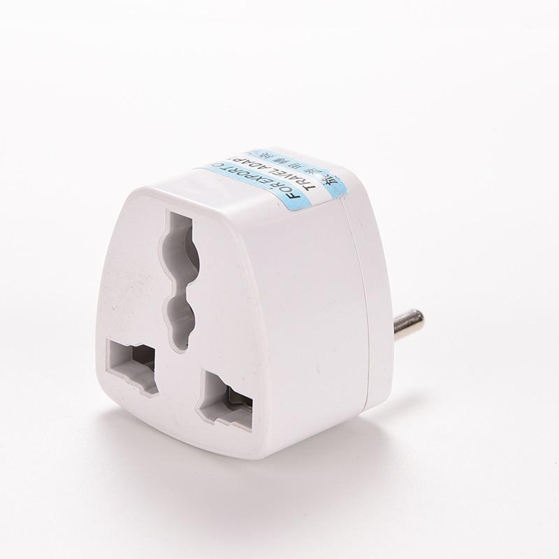 Universal Eu Ger Au Chn Plug Adapter European Germany Australia Chinese Power Socket White