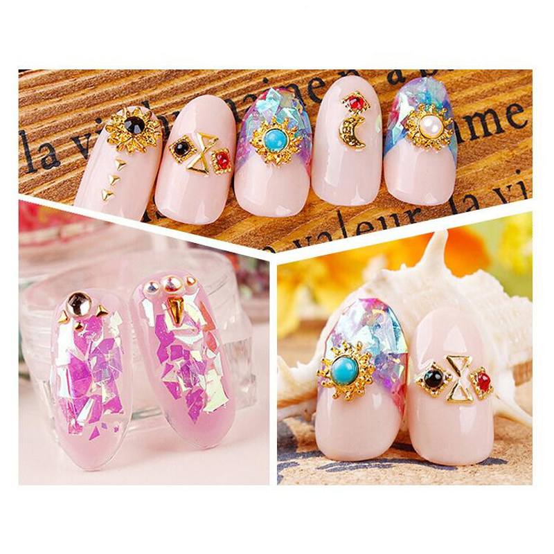 Direct sales 12pcs/set 5g bottled nail Stickers Candy wind Japanese ...