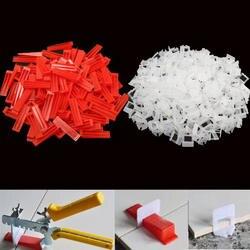 300 шт. пластик керамика плитки выравнивания системы 200 зажимы + 100 клинья плитки инструменты для мытья полов клинья зажимы