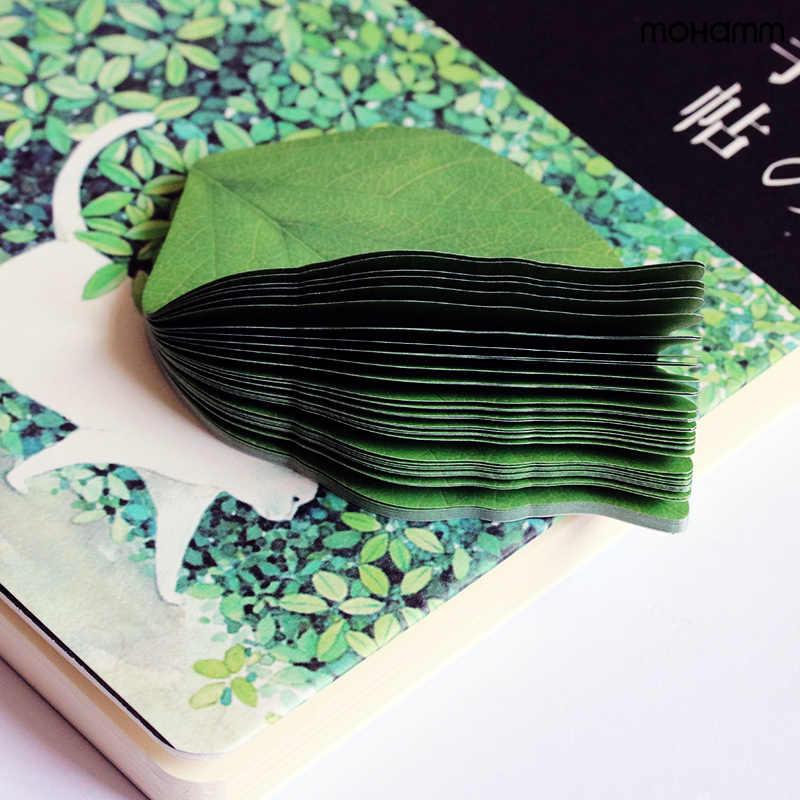 2 шт./партия милые листья дерева Корейский Японский 50 листов липкая бумага для заметок блокнот для заметок школьные канцелярские принадлежности