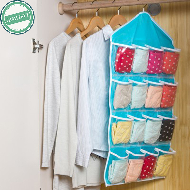 16 Pocket Wall Hanger Hanging Bag Holder Shoe Storage Organizer Closet Basket