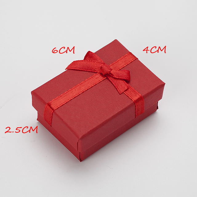 4x6x25cm Red Jewelry Box Small Paper Necklace Earrings Rings Gift
