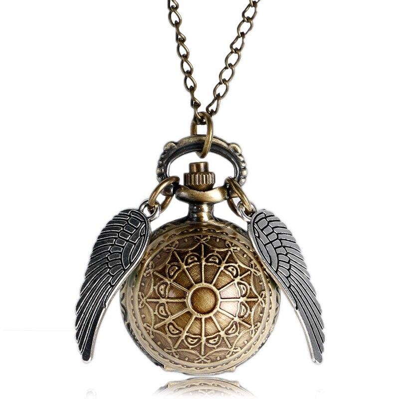 Retro Uhr Harri Potter Halskette Taschenuhr Vintage Schnatz Gold Ball Silber Bronze Fob Kette Uhr Männer Frauen Relogio De Bolso Clear-Cut-Textur Uhren