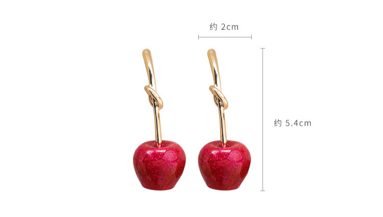 Cute/romantic Round Women Dangle Earrings Sweet Cherry Cherry Earrings Earrings For Women Drops Earrings 1