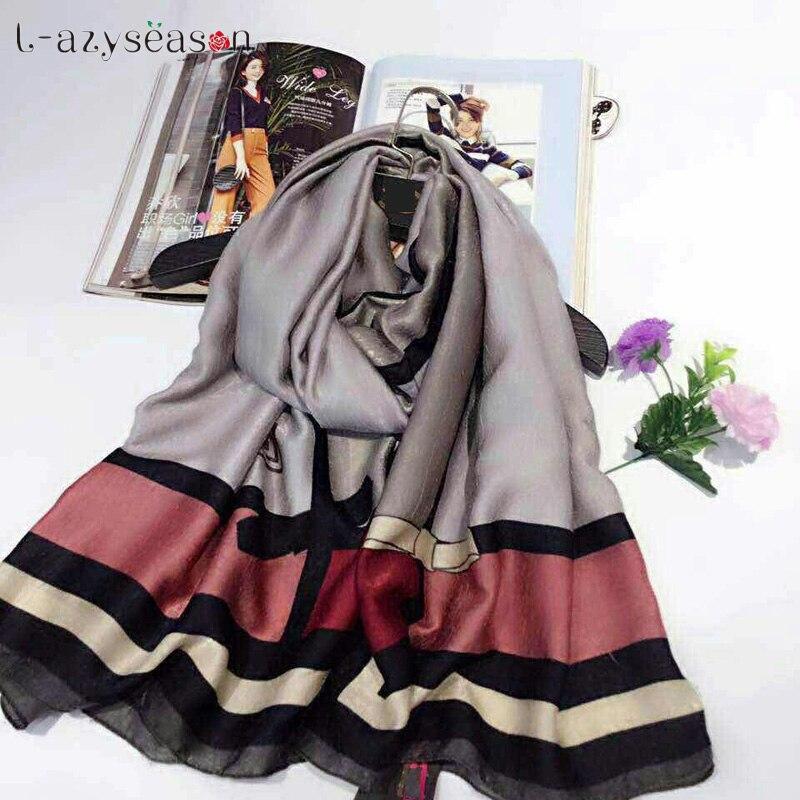 2018 New brand Scarf Women bandana Shawls Cashmere Pashmina Print European popular Lady's Autumn Winter Scarves Wraps hijab