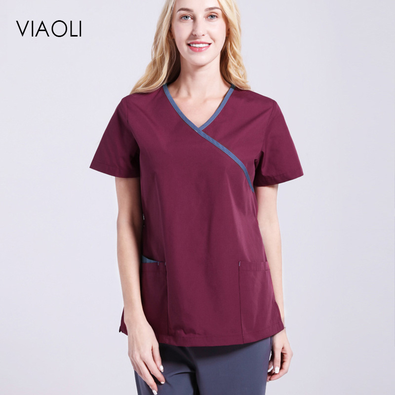 Dentistry Oral Clinic Pet Doctor Workwear Spa Uniform  Female Medical Clothing Scrub Sets Doctors Nurses Short Sleeve Uniforms