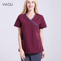 Dentistry Oral Clinic Pet Doctor Workwear Spa uniform Female medical clothing Scrub Sets Doctors Nurses Short Sleeve Uniforms