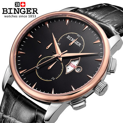 Relogio masculino Luxury Binger Brand Full Stainless Steel Watches Analog Display Date Men's Quartz Casual Watch Men Wristwatch top luxury brand full stainless steel watches men business casual ultra thin quartz wristwatch waterproof date relogio masculino