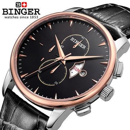 Relogio masculino de lujo marca Binger Acero inoxidable completa relojes  analog display fecha hombres de cuarzo reloj casual hombres reloj 43e166202d2