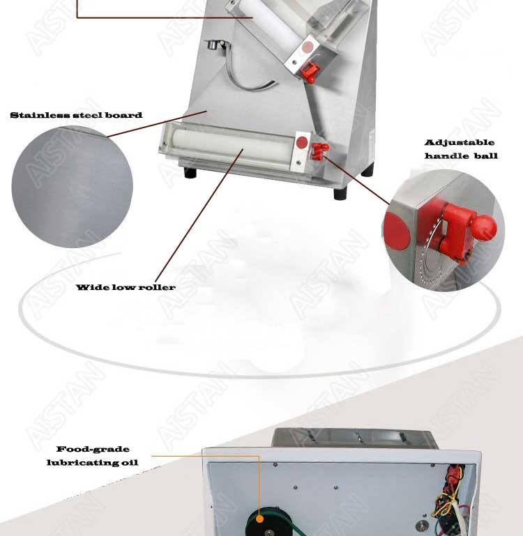 DR2A electric commercial stainless steel pizza dough roller/dough sheeter machine/dough press machine 7