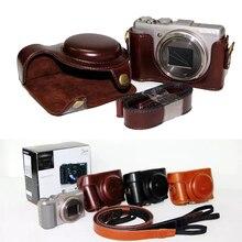 Ретро Винтаж из искусственной кожи Камера сумка для sony DSC-HX50V HX50 HX60 Камера Жесткий сумка с ремешком
