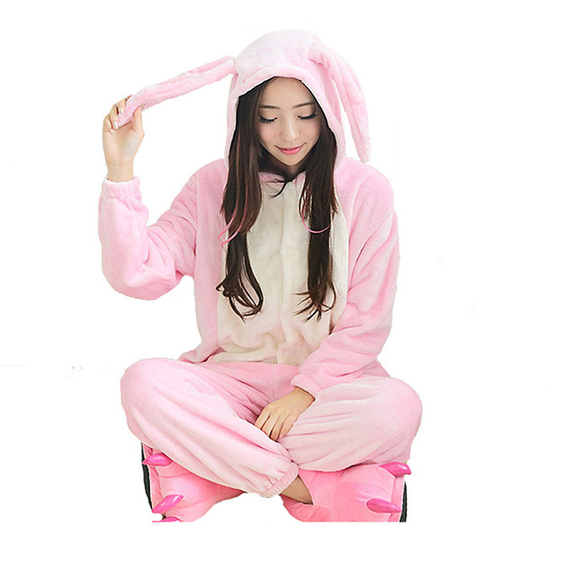 a christmas story adult bunny suit pajamas casual comfortable onesie jumpsuit bunnies adult xmas costume free
