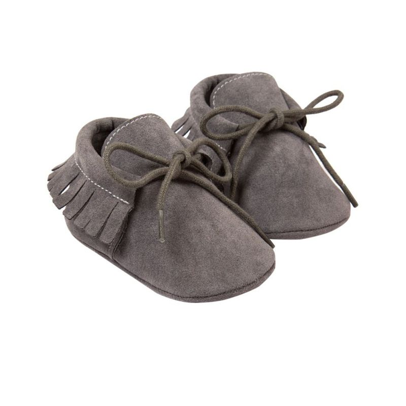 Baby Boy Girl Shoes Moccasins Soft Soled Baby Shoes Fringe Non-slip Footwear Suede Newborn Crib Shoes
