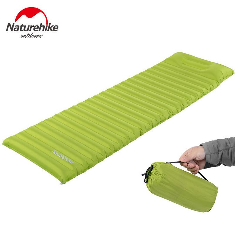 Naturehike sleeping pad inflatable mattress outdoor recreation camping foldable beach mat air mattress inflatable bed NH16D003-D