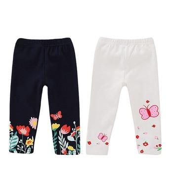 Estampado de flores de mariposa algodón Leggings lindos niños pantalones otoño invierno Niña Pantalones niños ropa para 1-4 años de edad