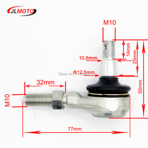 Image 2 - 1 Pair M10 Left & Right Hand Thread Steering Tie Rod Ends Fit For Yamaha Banshee WARRIOR YFB YFM Raptor 250 350 400  ATV Parts