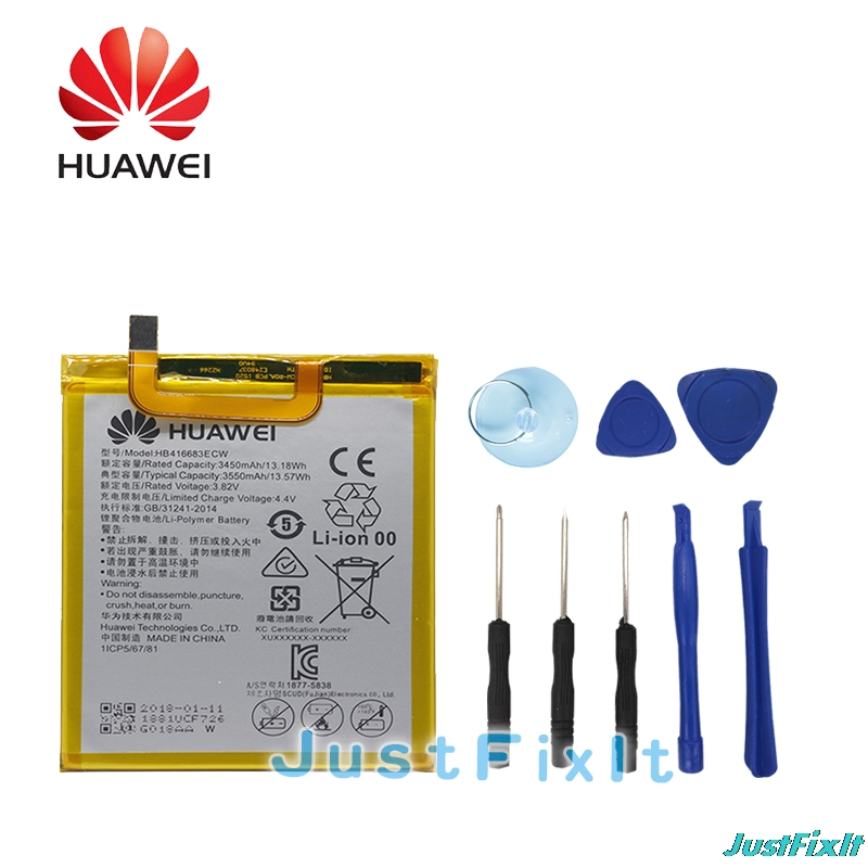 Mobile Phone Batteries Mobile Phone Parts Hb416683ecw Hua Wei Original Phone Battery For Huawei Nexus 6p H1511 H1512 3450mah Original Replacement Battery Free Tools Aromatic Character And Agreeable Taste