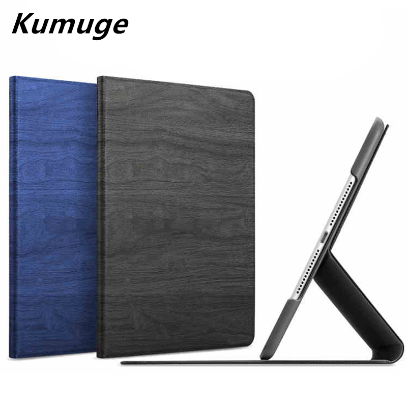 Wood Grain PU Leather Tablet Cover Case for New iPad 2017 Model A1822 Tablet Case Capa Para for 2017 New iPad 9.7+Film + Pen case cover for goclever quantum 1010 lite 10 1 inch universal pu leather for new ipad 9 7 2017 cases center film pen kf492a