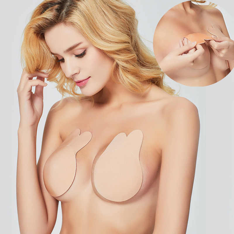 Hot Sale Women Breast Petals Silicone Adhesive Bra Nipple Breast Cover Lift Up Invisible Bra Intimates Accessories Dropshipping
