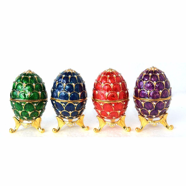 Faberge russian egg jewelry ring trinket treasure box easter egg faberge russian egg jewelry ring trinket treasure box easter egg collectible gifts craft wedding jewelry display negle Images