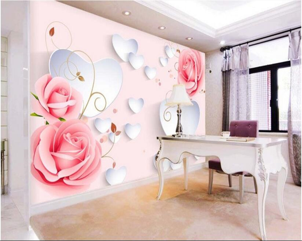 Amazing Beibehang Papel De Parede Malerei Dekoration Rose Muster D Liebe Tv  Hintergrund Tapete Wohnzimmer Hintergrund In Beibehang Papel De Parede With  ...
