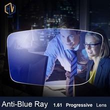 Anti-Blue Ray Lens 1.61 Free Form Progressive Prescription Optical Glasses Beyond UV Blue Blocker For Eyes Protection