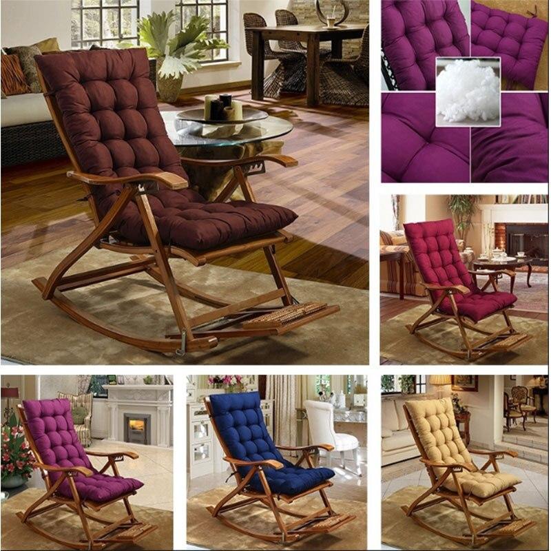 Solid Color Sofa Cushions Universal Recliner Rocking Chair Mat Soft Cushions Pillow For Chair Tatami Mat Lounger Cushion Pad
