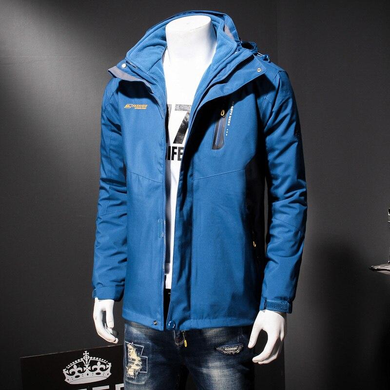 Chaqueta Parkas Mens Grueso Black 2in1 Outwear Alta Calidad 8xl Hombres De Impermeable Viento Abrigo Caliente green blue Capucha Invierno Desmontable Cvtzq