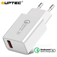 SUPTEC – chargeur USB 18 W rapide 3.0 5V 3A pour Iphone 7 8 Plus X QC 3.0, pour Xiaomi Mi8 Samsug s8 s9 Huawei mate 20 pro