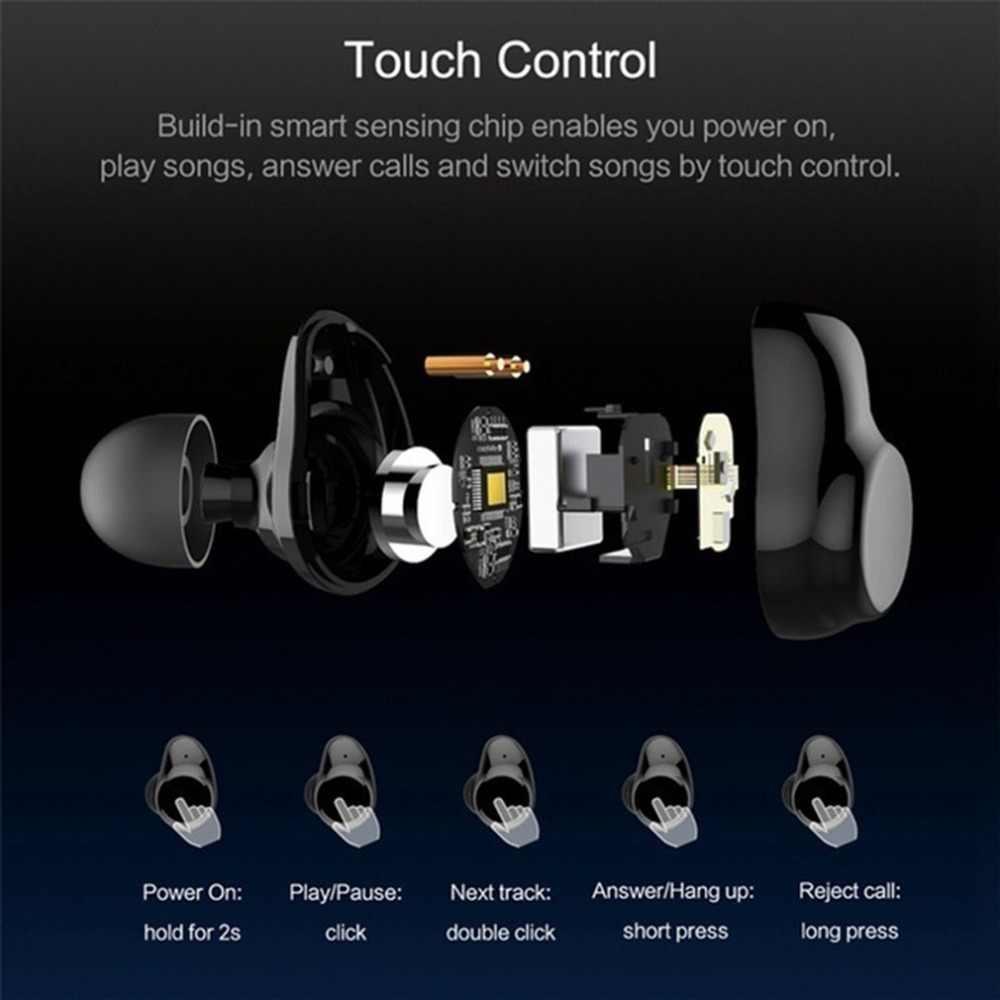 Bluetooth наушники-вкладыши гарнитура истинная Беспроводная Bluetooth Близнецы стерео наушники-вкладыши для iPhone Android интеллектуальная зарядная коробка