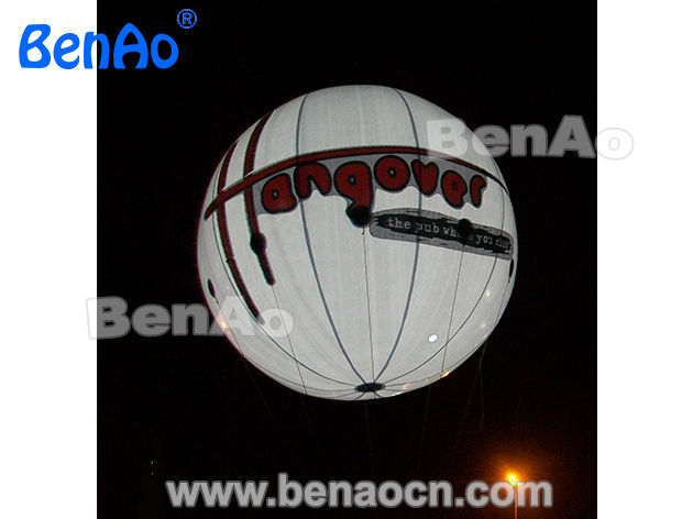 AO080  3m Inflatable PVC helium balloon with LED light / inflatable advertising balloon