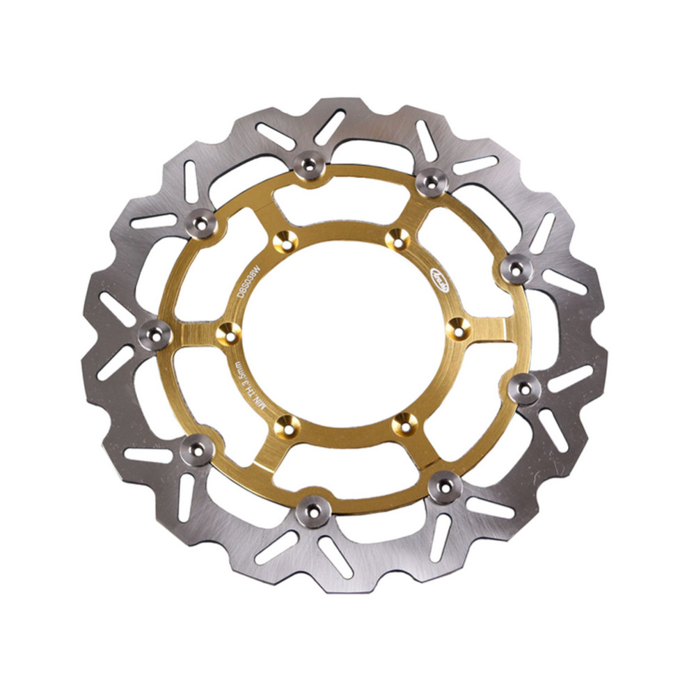 Arashi Front Brake Disc Rotor For Suzuki DRZ400SM 2005 2006 2007 2008 2009, Gold Color, Motorcycle Spare Parts aftermarket free shipping motorcycle parts eliminator tidy tail for 2006 2007 2008 fz6 fazer 2007 2008b lack