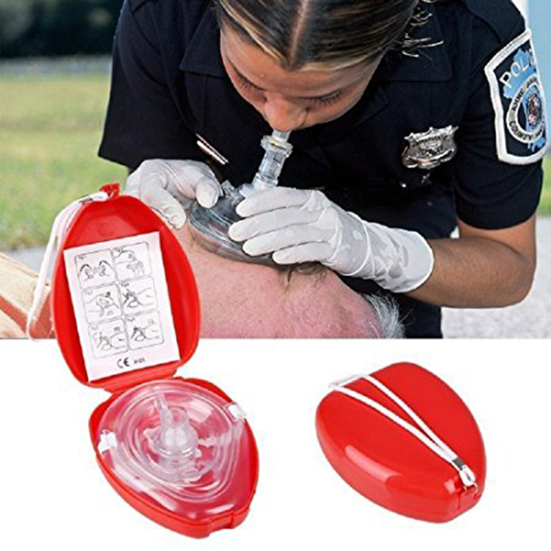 CPR Mask Protect Rescuers Artificial Respiration Reuseable With Disposable One-way Valve Airtight Seal to Face First Aid Kit 500pcs lot optional color cpr breathing mask protect rescuers with one way valve artificial respiration reuseable mask