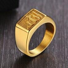 Insha Allah Signet Ring Stainless Steel Metal Ring for Men Arabic Persian Rings