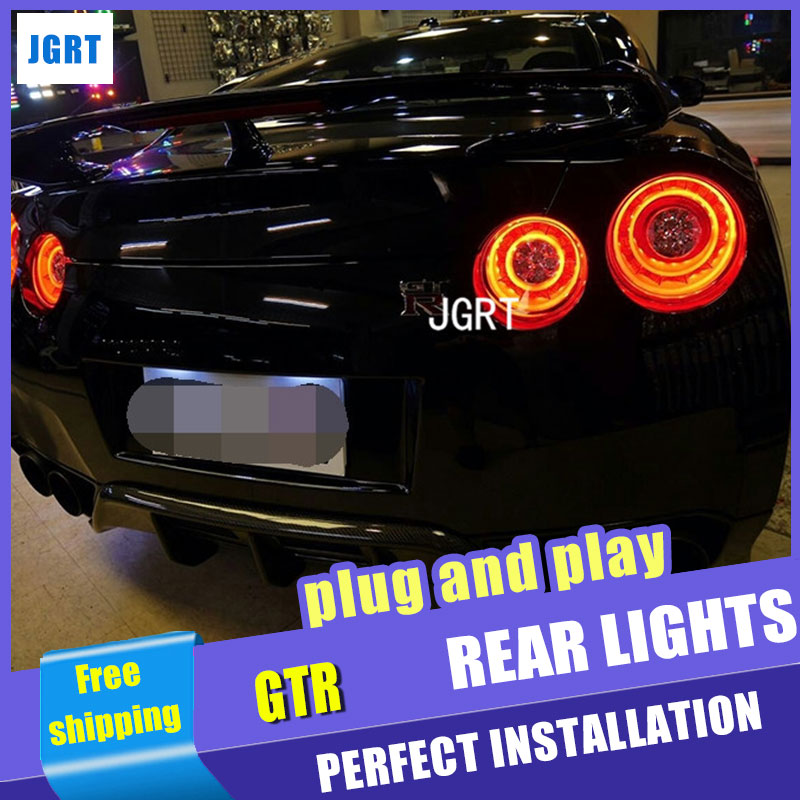 car styling For Nissan Valenti GTR R35 taillight assembly 2007- 2012 for GTR R35 lights car light led taillight light with 2pcs.