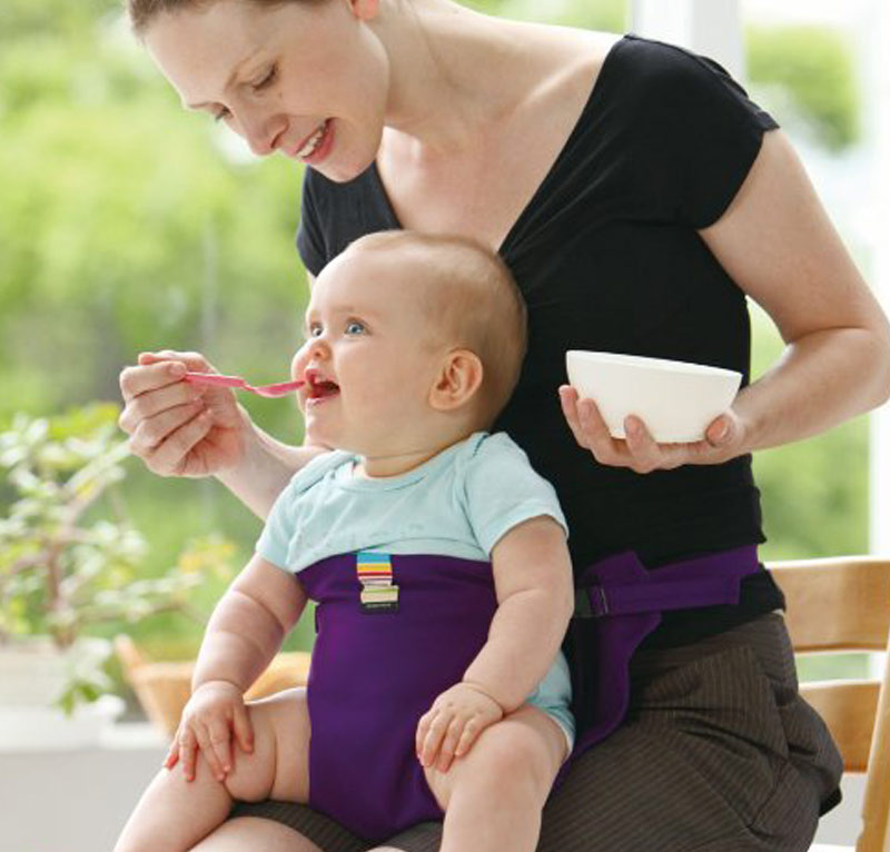 Portable Baby Chair Infant Seat Product Dining Lunch Chair Seat Safety Belt Feeding High Harness YH-17