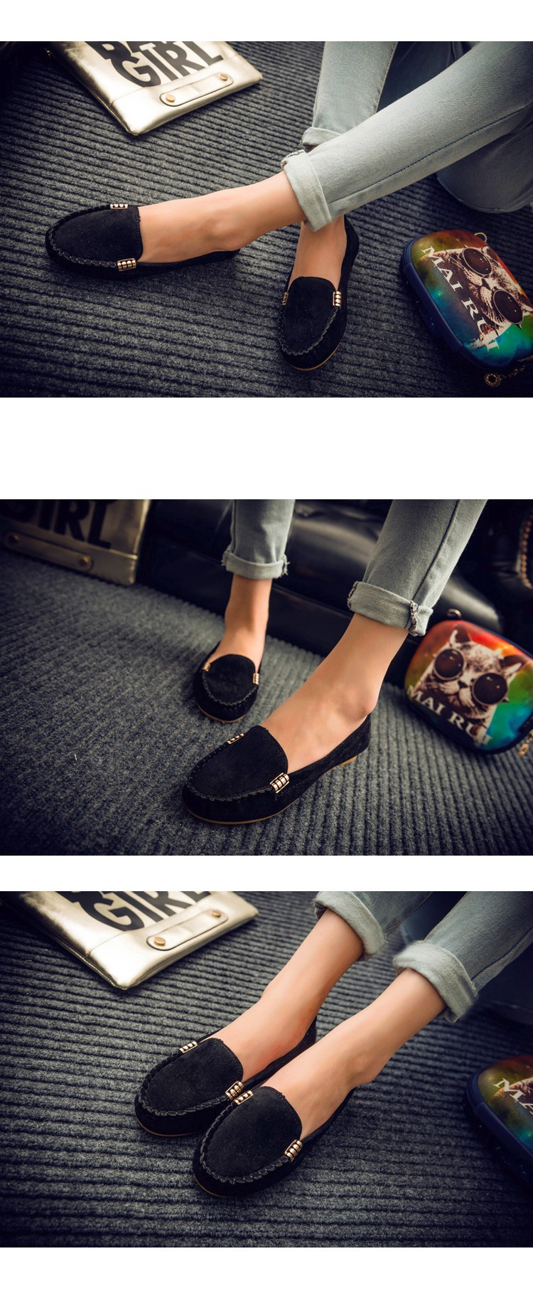Hot Sale 2016 Summer Woman Flats New Fashion Pure Color Wild Concise Flat Casual Shoes Round Toe Comfortable Female Shoes DT81 (6)