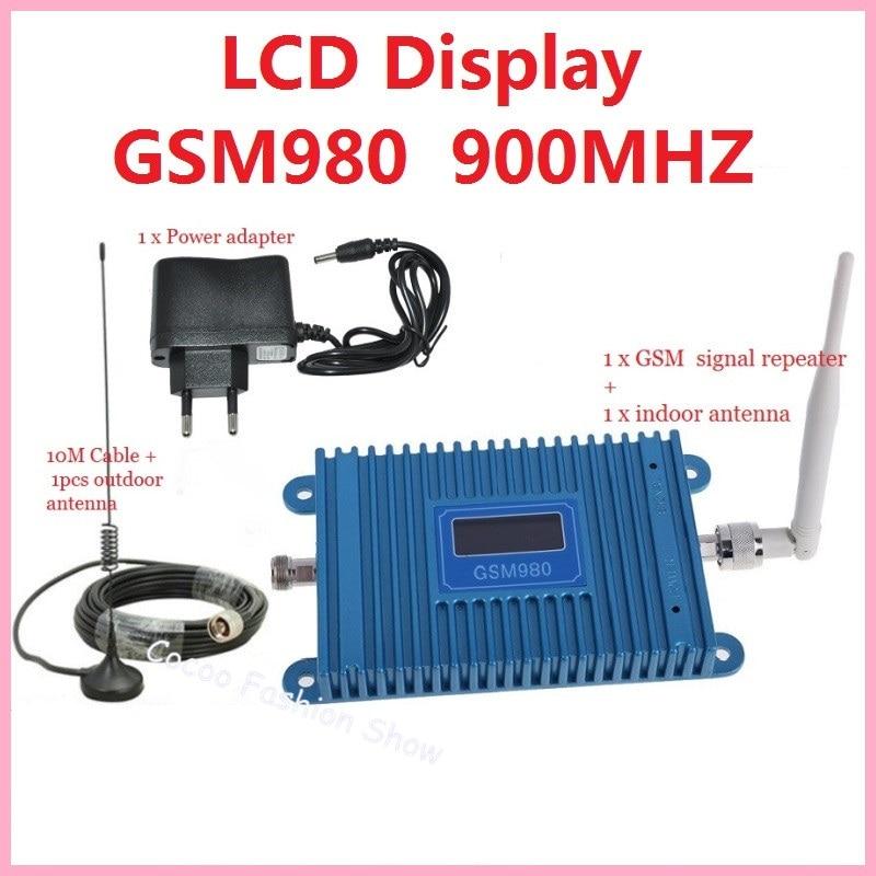 ÉCRAN LCD! Répéteur de Signal de téléphone portable GSM 900 Mhz, amplificateur de Signal cellulaire GSM, amplificateur de Signal de téléphone portable GSM