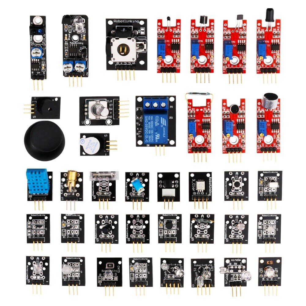 37 в 1 коробке, Комплект датчиков, базовых модулей для Arduino. Бесплатная доставка ...