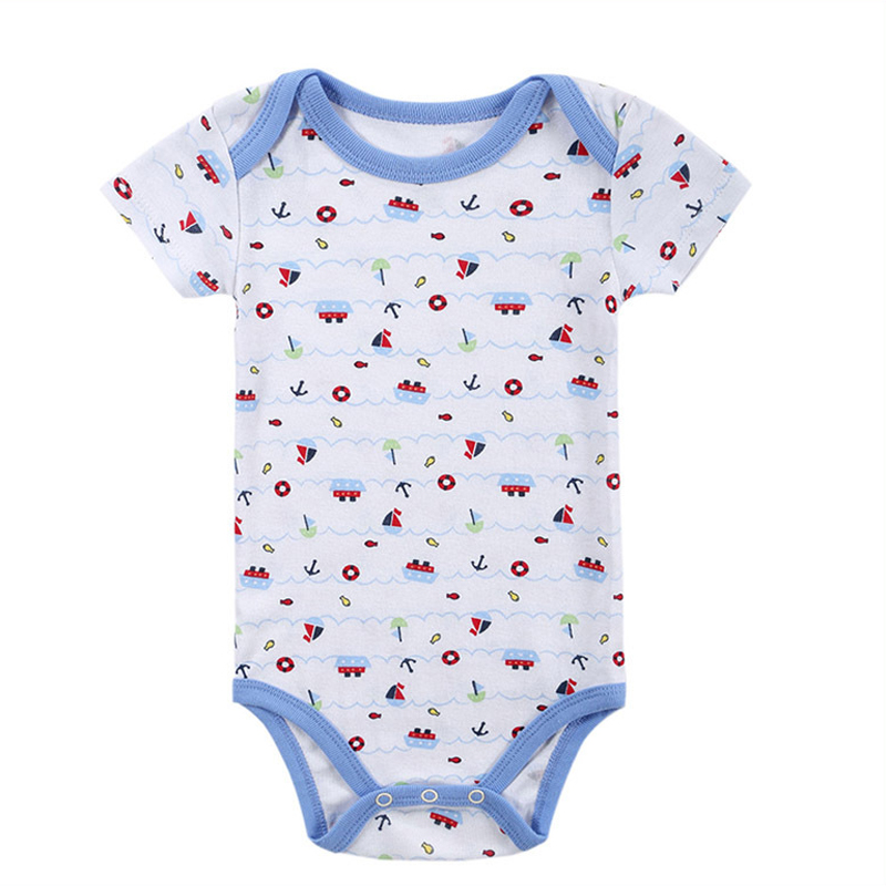 5 sztuk / partia Dziecko pajacyki z krótkim rękawem baby boy - Odzież dla niemowląt - Zdjęcie 5