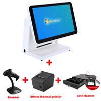 15 inch touch screen sell with 80mm thermal bill printer and cash drawer 1 D scanner|Printer Parts| |  -