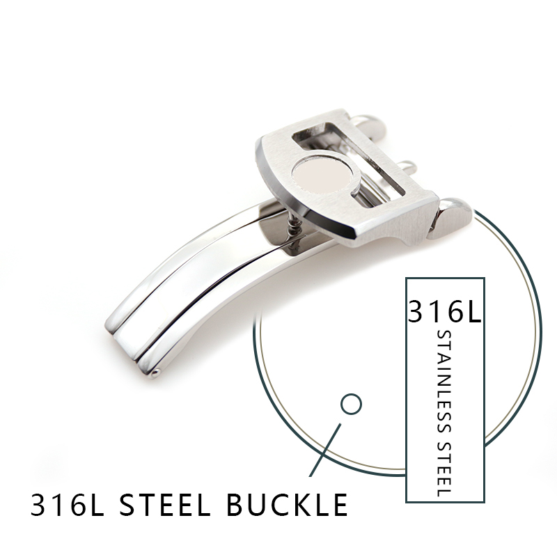 18mm 316L Stainless Steel Clasp High Quality Folding Watch Buckle Special For IWC Series Watch
